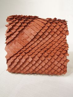 """""""Diamondback"""" - paper art by Eric Gjerde;  hand-made flax and abaca paper;  30cm x 25cm"""