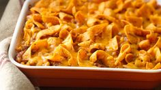 Chili-cheese corn chips turn a simple hot dish into a dinnertime favorite.