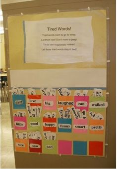 Great way to help students use a richer vocabulary in writing.