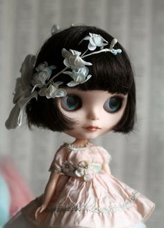 Brynn - A Mab Girl - custom Blythe doll, ooak Mab Couture dress, stand, accessories and original cameos by Mab Graves
