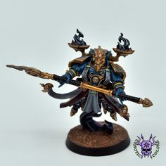 Thousand sons (Tzeentch) - Exalted Sorcerer #ChaoticColors #commissionpainting #paintingcommission #painting #miniatures #paintingminiatures #wargaming #Miniaturepainting #Tabletopgames #Wargaming #Scalemodel #Miniatures #art #creative #photooftheday #hobby #paintingwarhammer #Warhammerpainting #warhammer #wh #gamesworkshop #gw #Warhammer40k #Warhammer40000 #Wh40k #40K #chaos #warhammerchaos #warhammer40k #tzeentch #thousandsons #ExaltedSorcerer Thousand Sons, War Hammer, Warhammer 40000, Tabletop Games, Space Marine, Character Concept, Miniatures, Change, Creative
