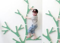 indoor climbing wall that looks like a tree