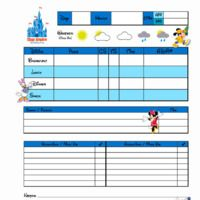 Printable Disney Trip Planner  Vacation Planner Disney Vacations