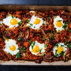 This is ideal for a brunch party; the entire casserole can be assembled the night before so all that's left to do is bake it the next day. And let's be real: We'd happily eat it for dinner, too.