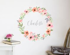 Flower Name Wreath Decal IV – YOUR DECAL SHOP | NZ Designer Wall Art Decals | Wall Stickers | Wall Murals
