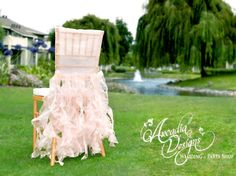 Bridal Ruffle Chair Cover Wedding Ruffled Chair Decoration Made to Order Willow Slipcover for Event Reception Bridal Shower Wedding Engagement Decor