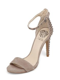Studded Suede Ankle-Wrap Sandal by Vince Camuto at Gilt