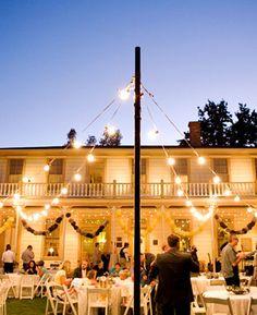 Nighttime outdoor reception