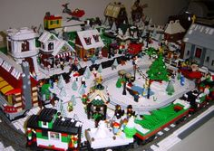 This week we're celebrating the power of lego. Lego has brought some… Lego Christmas Village, Lego Winter Village, Lego Village, Christmas Villages, Christmas Town, Christmas Holidays, Christmas Ideas, Xmas, Lego Design