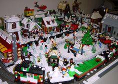 Winter Village Layout Idea