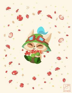 Teemo by inkinesss.deviantart.com on @deviantART