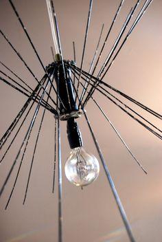 Black Splattered Inverted Spokes Lighting by ReMainDesigns on Etsy