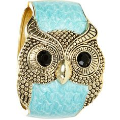 Turquoise Marble Owl Cuff, found on polyvore.com