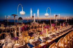 Modern, glamorous, and luxe details at this jewel toned Pelican Hill wedding designed by A Good Affair with event lighting by Elevated Pulse.