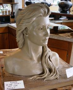 my goal for my ceramic art is to complete a ceramic bust... this one is a gorgeous inspiration.