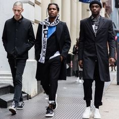 ASAP Rocky and ASAP Nast Walk The Town in Alexander McQueen Exaggerated Sole Sneakers | UpscaleHype