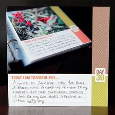 30 days of thankful - Cathy Zielske