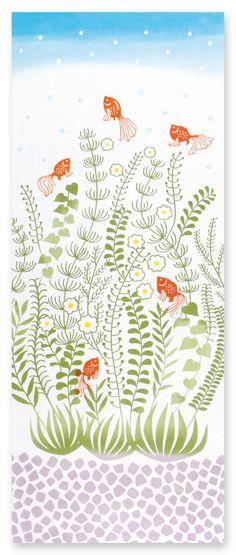 Japanese Tenugui Towel Cotton Fabric Kawaii by JapanLovelyCrafts Japanese Textiles, Japanese Patterns, Japanese Fabric, Japanese Design, Japanese Art, Japanese Plants, Japanese Flowers, Japan Crafts, Plant Illustration