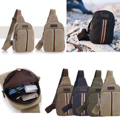 Men's Canvas Satchel Casual CrossBody Handbag Messenger Shoulder Bag Vintage New #Unbranded #Backpack