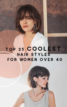It's not fair to say that women over 40 shouldn't wear their hair long. But it wouldn't be fair to say they shouldn't wear short hair, either! Check out these gorgeous women over 40 who are rocking short hair! Click the link for Top 25 coolest hairstyles for women over 40.    #coolesthairstylesforwomen
