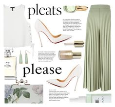 """Give Me Pleats, Please! #2"" by sandralalala ❤ liked on Polyvore featuring Givenchy, rag & bone, Christian Louboutin, Stila, Chanel, New Directions, Linne and Pomellato"