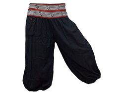 Short Harem Pants / Baggy Pants / Aladdin Pants by AsianCraftShop, $18.00