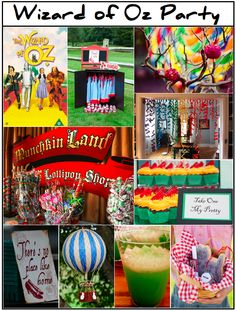 wizard of oz party   Carousel Weddings and Events: Wizard of Oz Party