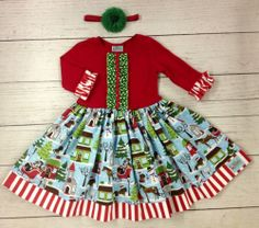 a9e0c361374f4 Sweet Petunia Puppy Old Time Christmas. Olga · Cute Girls Holiday Clothes
