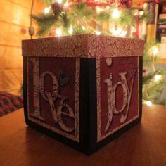 Natvity Advent Explosion Box - Scrapbook.com