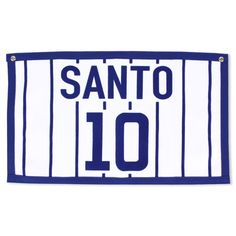 Ron Santo Chicago Cubs Striped Banner by Mitchell & Ness | SportsWorldChicago.com  #RonSanto #ChicagoCubs @cubsbaseball