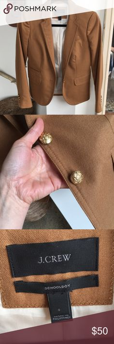 CLASSIC J. Crew Schoolboy Blazer Camel color and classic forever. This is a wee bit small for me, but is such a great workwear staple. No flaws. J. Crew Jackets & Coats Blazers