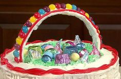 How To Make A Coconut Easter Basket Cake