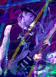 Stevie Ray Vaughan blues guitarist by David Lloyd Glover