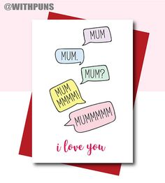 Card for Mum Mum Birthday card Funny Mum Birthday card