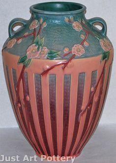 Roseville Pottery Cherry Blossom Pink Vase