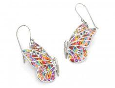 Millefiori Butterfly earrings by Adina Plastelina.