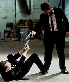 Harvey Keitel and Steve Buscemi in Reservoir Dogs (Quentin Tarantino, 1992)
