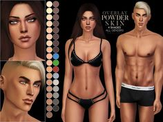 PS Powder Skin Overlay for The Sims 4