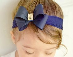 Pale Pink Bow Headband Baby Bow Headband Newborn Headband