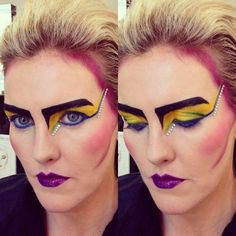 David Bowie inspired 1980s New Wave look