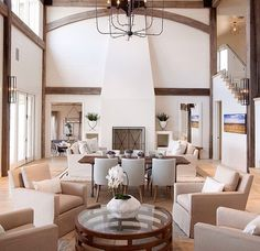 High ceilings with neutral colours