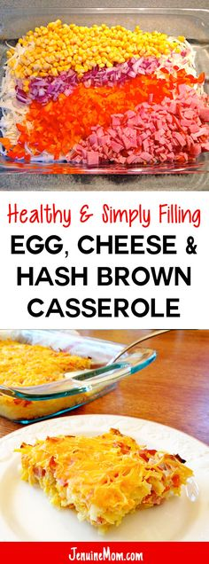 Healthy Egg, Cheese, & Hash Brown Casserole is 100% Simply Filling on Weight Watchers!   JenuineMom.com