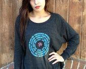 Inspirational OM Mandala Tri Blend Raglan Pullover