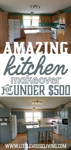 Small Kitchen Makeover Looking to discover how you too can makeover your kitchen on a crazy low budget? Here's an amazing frugal kitchen makeover for inspiration! Budget Kitchen Remodel, Kitchen On A Budget, Kitchen Remodeling, Kitchen Makeovers, Diy Kitchen Makeover, Basement Remodeling, Cheap Kitchen Updates, House Makeovers, Kitchen Cabinet Remodel