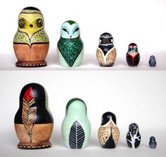 My Owl Barn: Caleigh Illberun: Nesting Dolls and More