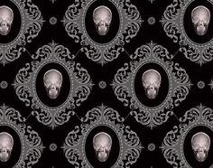 Worth Skull Xray wallpaper #goth #decor #home