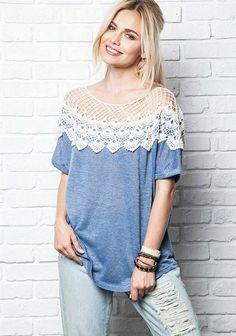 Fabulous Crochet a Little Black Crochet Dress Ideas. Georgeous Crochet a Little Black Crochet Dress Ideas. Crochet Yoke, Crochet Fabric, Crochet Collar, Crochet Shirt, Crochet Clothes, Diy Clothes, Top Fashion, Fashion Beauty, Lace Sweater