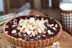 Chocolate ganache coconut tart recipe