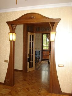 Enjoy The Beauty Of Stylish Interior Wooden Doors Home Interior Design, Pooja Room Door Design, Ceiling Design, Wooden Door Design, Wooden Arch, Door Design, Wood Doors Interior, Entrance Decor, Room Door Design