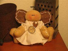 PatternMart.com ::. PatternMart: Primitive Raggedy Gingerbread Angel Ornie Doll EPattern